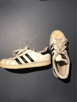 Adidas Chaussures à lacets blanc-noir