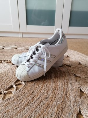 Adidas superstar Sznurowane trampki biały-srebrny