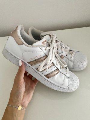 Adidas Sznurowane trampki biały-złoto