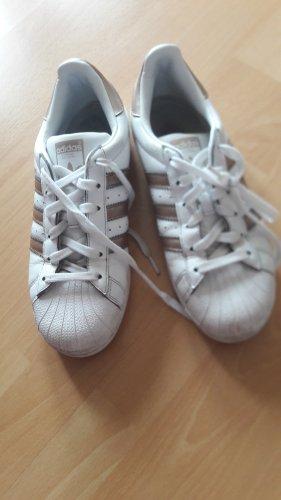Adidas superstar Zapatilla brogue blanco-color oro