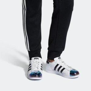 Adidas Superstar Damen original Metal Toe Blau/Weiß (Gr.39 1/3)