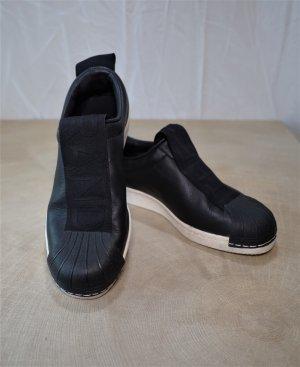 Adidas Superstar Damen schuhe slip on Sneaker schwarzes Kunstleder