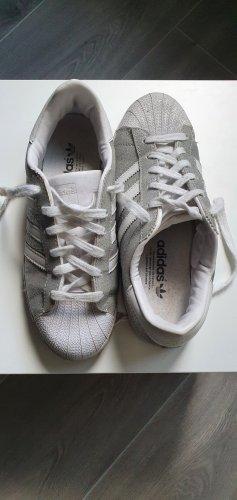 Adidas superstar Sneakers met veters zilver