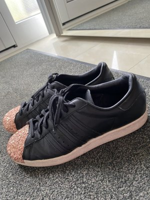 Adidas Basket à lacet noir-or rose