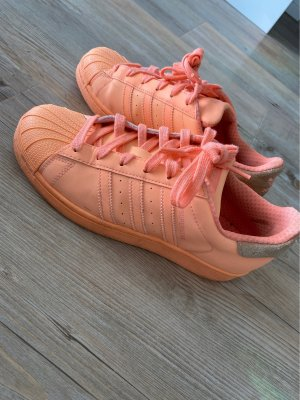 Adidas Originals Basket à lacet orange fluo