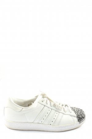 Adidas superstar Sneaker stringata bianco-argento Stampa a tema stile casual