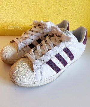 Adidas superstar Zapatos de patinador blanco-violeta amarronado