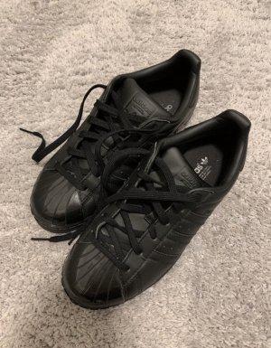 Adidas superstar Sneakers met veters zwart