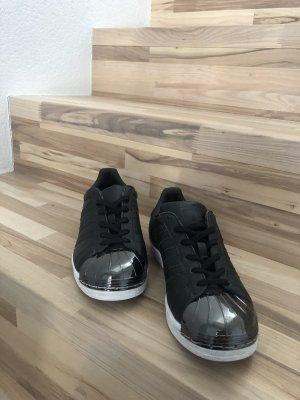 Adidas Superstar Schwarz/Silber Gr. 38