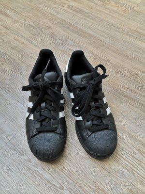 Adidas superstar schwarz weiß 38 2/3 sneaker Halbschuhe