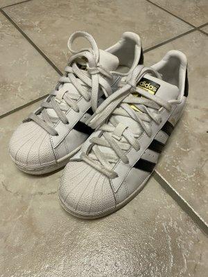 Adidas Originals Sznurowane trampki biały-czarny Skóra