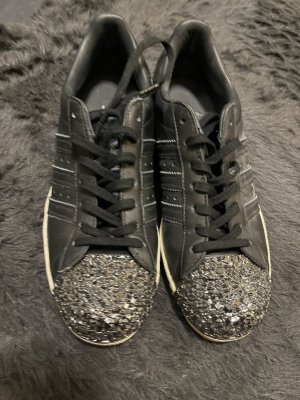Adidas superstar Sneakers met veters zwart-zilver