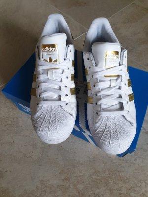 Adidas superstar Sneaker stringata bianco-oro