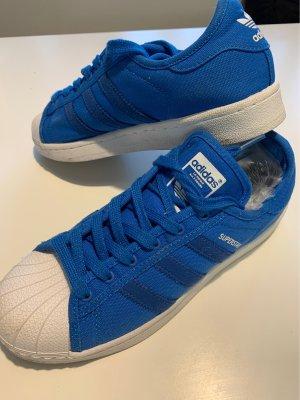 Adidas Superstar Textil Gr.38 blau/weiß