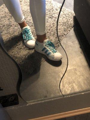 Adidas Originals Sneakers met veters wit-lichtblauw