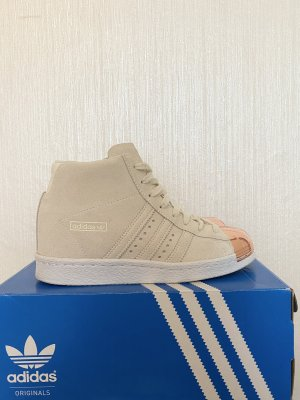 Adidas superstar Sneakers met veters room-licht beige