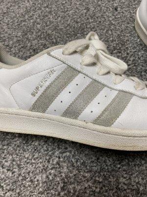 Adidas Superstar weiß mit Silber Glitzer streifen