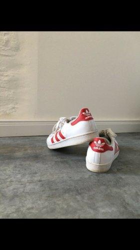 Adidas superstar Zapatilla brogue blanco-rojo