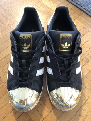 Adidas Lace Shoes black-gold-colored