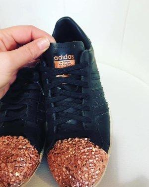 Adidas Superstars schwarz Rosegold Gr 38