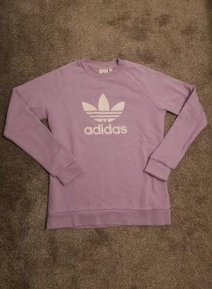 Adidas Sweatshirt blanc-mauve