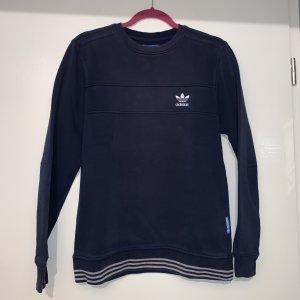 Adidas Sweter z okrągłym dekoltem ciemnoniebieski-biały