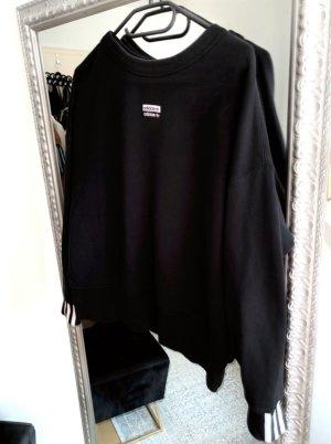 Adidas Sweatshirt zwart-wit Gemengd weefsel