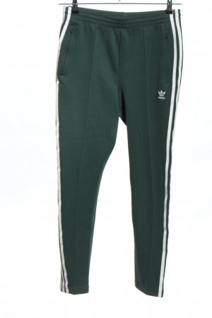 Adidas Sweat Pants green-white striped pattern casual look