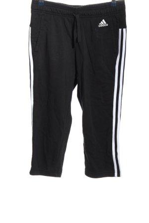 Adidas Pantalone fitness nero-bianco motivo a righe stile casual