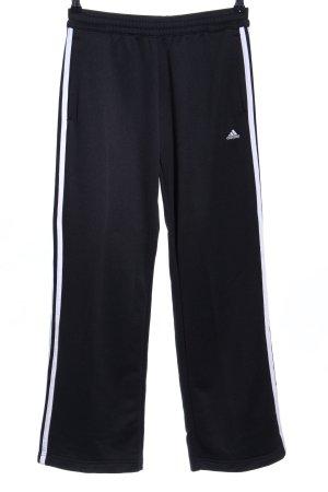 Adidas Sweat Pants black-white striped pattern casual look