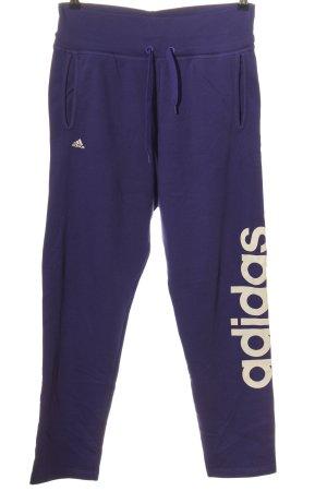 Adidas Sweathose blau-weiß Schriftzug gedruckt Casual-Look