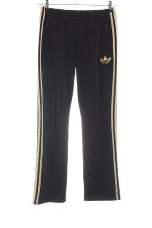 Adidas Pantalon de jogging noir-doré style décontracté