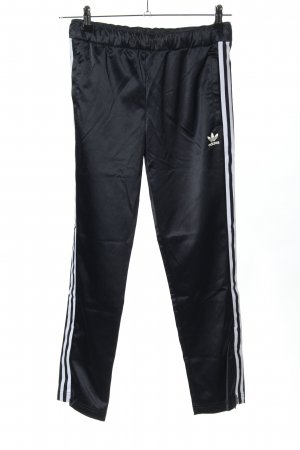 Adidas Sweat Pants black-white themed print casual look