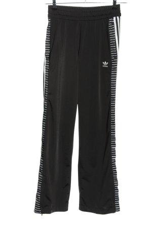 Adidas Sweathose schwarz-weiß Streifenmuster Casual-Look