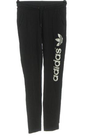Adidas Pantalon de jogging noir lettrage imprimé style décontracté
