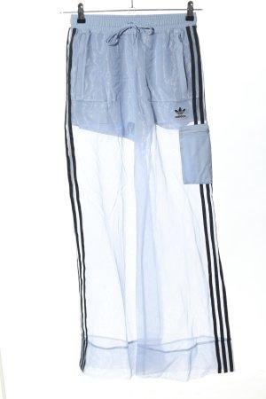 Adidas Pantalone fitness blu-nero stile casual