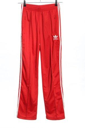 Adidas Pantalón deportivo rojo-blanco estilo deportivo