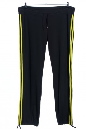 Adidas Joggingbroek zwart-sleutelbloem gestreept patroon casual uitstraling
