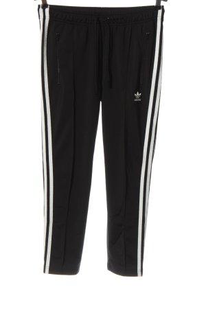 Adidas Spodnie dresowe czarny-biały Wzór w paski W stylu casual