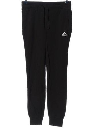 Adidas Sweathose schwarz Schriftzug gedruckt Casual-Look