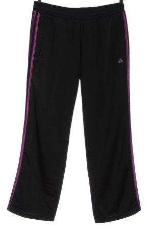Adidas Sweathose schwarz-lila sportlicher Stil