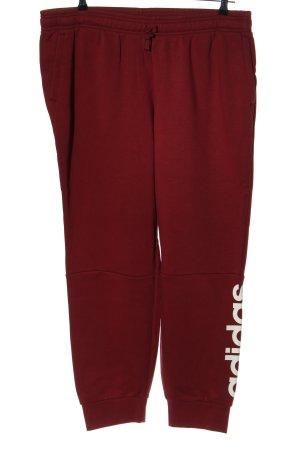 Adidas Pantalon de jogging rouge-blanc lettrage imprimé style athlétique