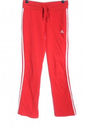 Adidas Pantalone fitness rosso-bianco stile casual