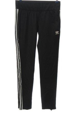 Adidas Sweathose schwarz-weiß Motivdruck Casual-Look