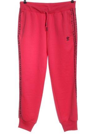 Adidas Sweathose rot-schwarz sportlicher Stil