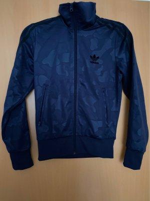Adidas Chaqueta de tela de sudadera azul