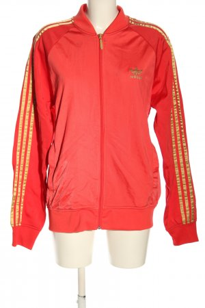 Adidas Sweat Jacket red-gold-colored striped pattern casual look
