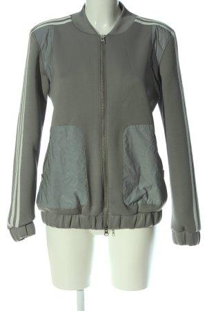 Adidas Sweatjacke khaki-weiß Motivdruck Casual-Look