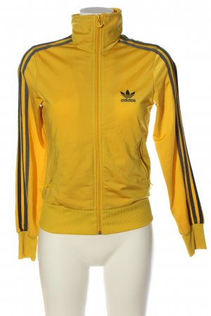 Adidas Giacca fitness giallo pallido-nero stile casual
