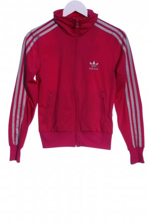 Adidas Sweatjacke pink Motivdruck Casual-Look